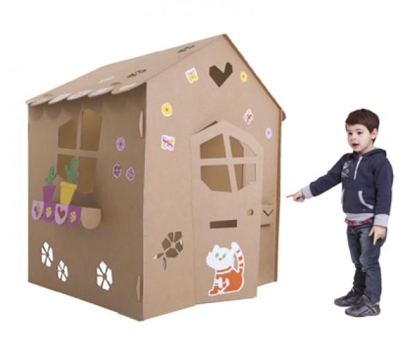 Gioco in cartone casetta margherita babymama - Costruire una casetta di cartone per bambini ...