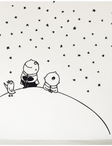 adesivo parete cielo stellato