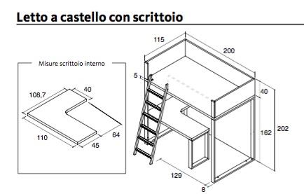 Dwg letti misure minime divano letto bagno disabili - Dimensioni letto a castello ...