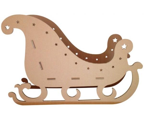 Foto Slitta Di Babbo Natale.Gioco In Cartone Slitta Di Babbo Natale